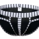 #5003SJ Black wangjiang brand Men's sexy underwear cotton stripes cuecas panties briefs