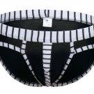 #5003SJ Black wangjiang brand Men's sexy underwear cotton stripes cuecas panties briefs