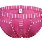 #5003SJ Pink wangjiang brand Men's sexy underwear cotton stripes cuecas panties briefs