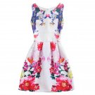 #B6026 Women's floral printing princess dresses