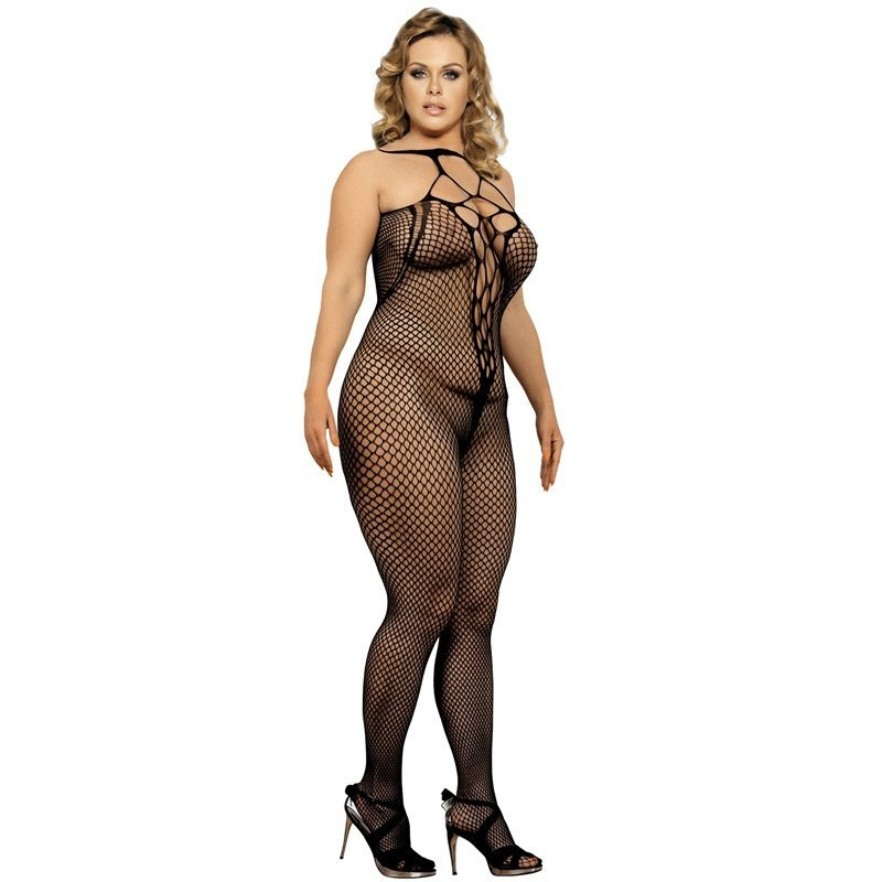 #H3126 Sexy women's lingerie Hosiery transparent crotchless mesh fishnet bodystockings