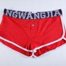 #5006DK Red Wangjiang men's underwear cotton U bag pouch button opening underpants boxer briefs