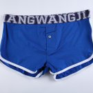 #5006DK Royal blue Wangjiang men's underwear cotton pouch button opening underpants boxer briefs