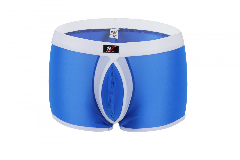 #1002PJ Blue Wangjiang Brand Men's sexy underwear Ice Silky U bag Boxer briefs Underpants