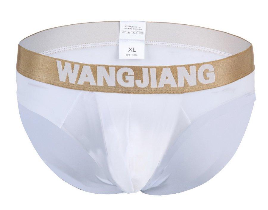 #5008SJ White Wangjiang brand men's underwear ice silky U bag pouch underpants briefs panties cuecas