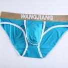 Blue 3pcs men's underwear ice silky briefs underpants #5008SJ