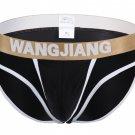 #5008SJ Black Wangjiang brand men's underwear ice silky U bag pouch underpants briefs panties cuecas