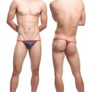 #11006 Gray Uzhot one size sexy men underwear mesh transparent U bag thongs t-strings g-strings