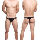 #11007 Black 3pcs sexy men underwear Uzhot mesh transparent thongs t-string cuecas