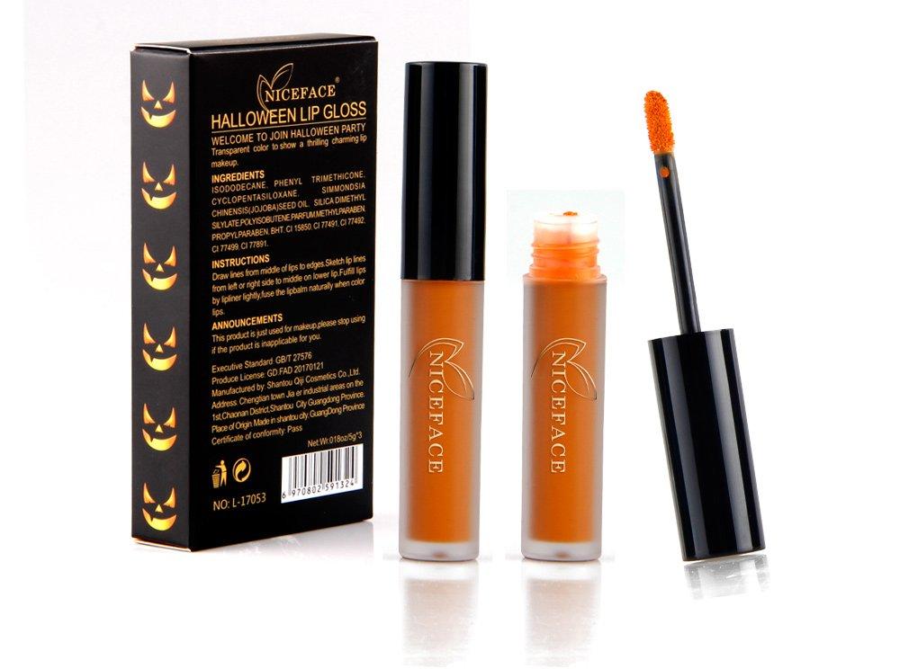 #L17053 Halloween funny long lasting matte liquid lipstick 3 sets(3pcs/set)