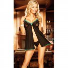 #4005 Women's sexy exotic lingerie detachable Nursing style mesh baby dolls chemise set