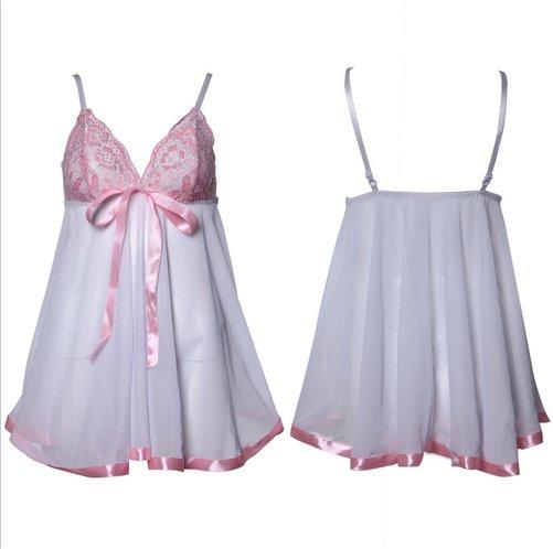 #4013B Women's sexy lingerie mesh lace nightie sleepwear pajamas baby dolls chemise