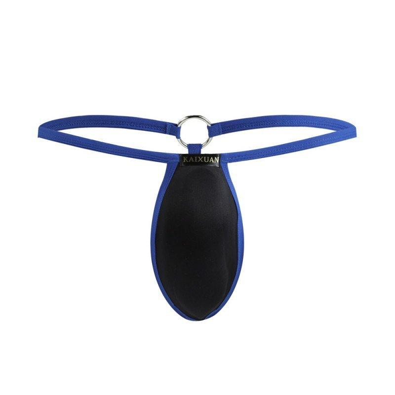 Blue 3pcs sexy gay men's underwear pouch thong t-string g-string #KX003DK
