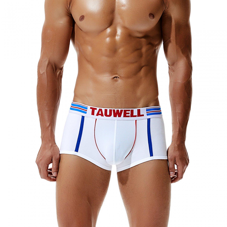 White 3pcs Men's sexy underwear cotton blend low rise boxer briefs #8201