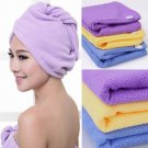 Purple Fast Drying Microfiber Hair Towel Wrapped Turban Turbie Twist Free Ship.