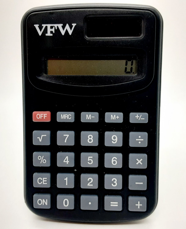 Vintage VFW Solar Powered Pocket Calculator