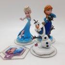 Disney Infinity Frozen Figures and Power Disc Lot