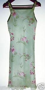 DBY SUMMER DRESS Sleeveless Shoulder Straps PINK & GREEN Floral Women's Sz 9 10