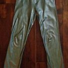 Women's Stretch FAUX LEATHER Pants METALLIC SILVER Slacks Made in France TARK 1