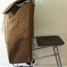 TROLLEY BAG with Folding CHAIR SEAT Travel Shopping Fishing MULTIPURPOSE LUGGAGE