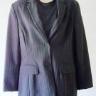 WOMEN'S The Limited Stretch BLAZER Size M Black with vertical pinstripe pattern