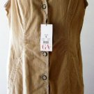 GLORIA VANDERBILT DRESS Sleeveless Size S CORDUROY Cotton Chino Button-up