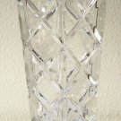 "MIKASA CRYSTAL VASE Hexagonal Shaped DECOR 6 Sides IMPORTED fr GERMANY 8.75""Tall"