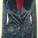 Women's Platinum BLAZER Blue w/ Colorful Buttons Size S  See actual measurements