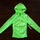Women's SOHO GIRLS SWEATSHIRT Drwstrg Hood NEON LIME GREEN Pockets 1 SZ FITS ALL