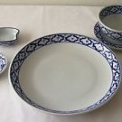 Ceramic Dinner Set PLATE BOWL SAUCER SPOON SAUCE DISHES Thai Asian Blue & White