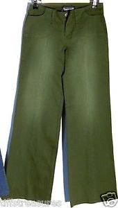 Women's Pants by TRACTOR Army Green color WIDER CUT at LEGS 4 Pockets + 2 Loops