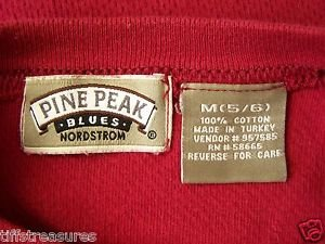 Lot 2 Boys Shirt NORDSTROM Pine Peak Blues RED L/S + PLC GRAY L/S Boys Sz. 5 / 6