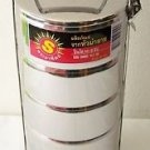 FOOD CARRIER Container 5 TIER Stainless Steel ROUND TIFFIN Hot Cold FIVE SECTION
