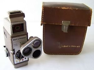 BELL & HOWELL 333 8MM Home Movie Camera VINTAGE