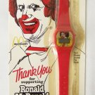 The Official RONALD MCDONALD WATCH Promotional Item ~ McDonald's ~ RED ~ Vintage
