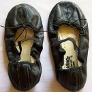 Girl's Black Ballet Shoes ~ Leather Upper ~ Girl Dance Shoes ~ Black Ties VeryGD