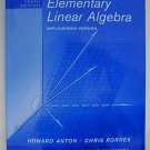STUDENT SOLUTIONS MANUAL Elementary Linear Algebra 10/E Applications ANTON