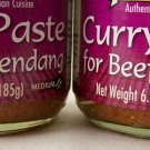 Beef Rendang Curry Paste MALAYSIAN Asian 2x6.5 oz ALL NATURAL INGREDIENTS ~ NEW