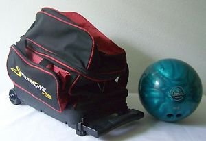 EBONITE MAXIM BOWLING BALL Turquoise Blue Green Bowl + FREE WHEELED BAG!