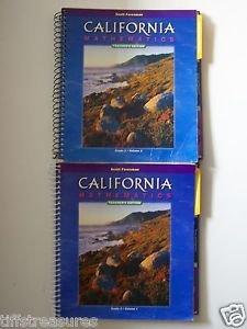 LOT 3 Scott Foresman CALIFORNIA MATHEMATICS Teacher's Edit. Gr. 2 Vol. 1 & 2 +CD