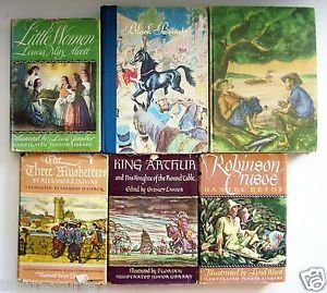 LOT 6 CHILDREN'S CLASSICS Grosset & Dunlap ILLUSTRATED HC Books Grades 3-5