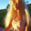 MY SIZE BARBIE DOLL Mexico 1992 Body 1976 Head 3 FEET TALL Blonde Hair Blue Eyes