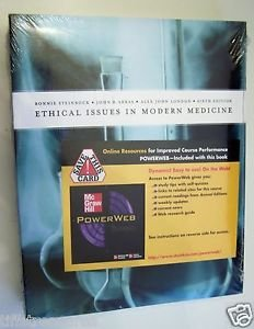 Ethical Issues in Modern Medicine by STEINBOCK ARRAS & LONDON 6th Sixth Edit NEW