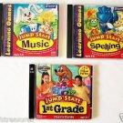 Lot 3 Children Kids CD Software JUMPSTART 1st GRADE + Music + Spelling AGES 5-8