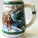 1993 Budweiser Holiday Stein | Special Delivery by Artist Nora Koerber NEAR MINT