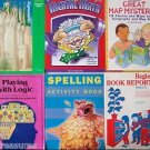 LOT 6 WORKBOOK Study Guide MATH Geography READING Spelling LOGIC etc Grade 2 3 4
