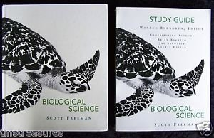 Prentice Hall BIOLOGICAL SCIENCE by Freeman TEXTBOOK + STUDY GUIDE + CD Biology