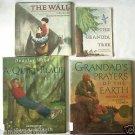 4 CHILDREN'S BOOKS Gr. 1 & 2 GRANDPA TREE The Wall GRANDAD'S PRAYERS Quiet Place