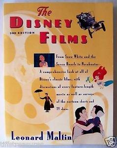 THE DISNEY FILMS Third 3rd Edition 3 Leonard Maltin MOVIES Animation Book Walt