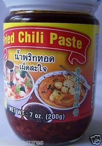 Thai FRIED CHILI PASTE 3x7 oz ~ NO artificial colors , flavors or preservatives